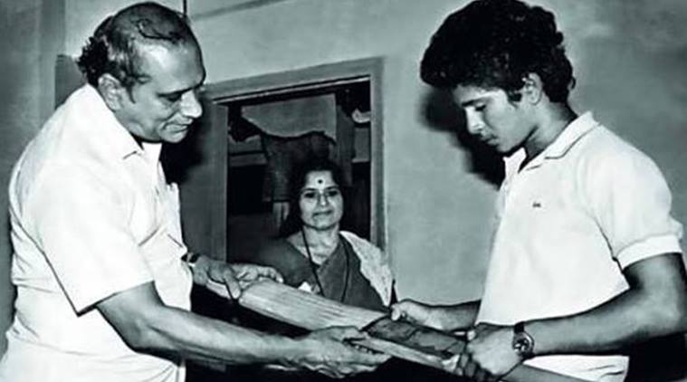sachin with his father